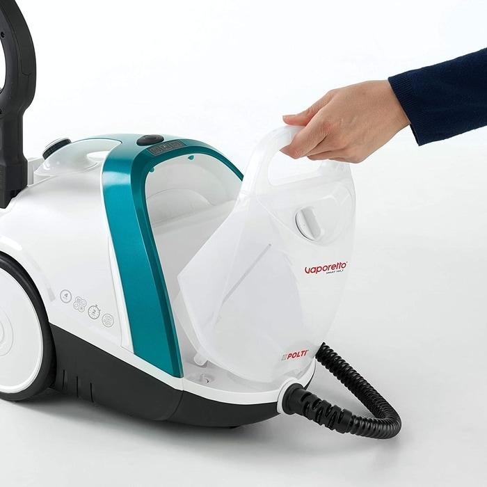 Polti Vaporetto Smart 100T et son récipient à eau détachable