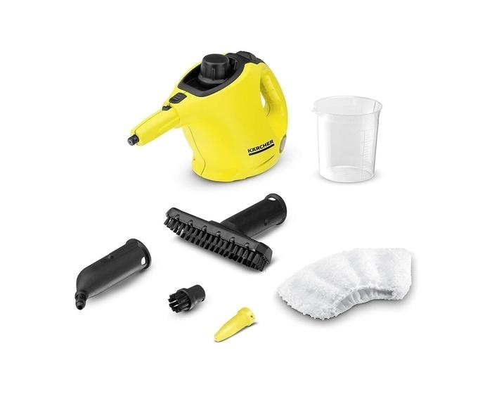 Le nettoyeur à vapeur à main et tous les accessoires vendus par Kärcher le modèle SC1